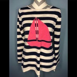 Cashmere sailboat sweater size L